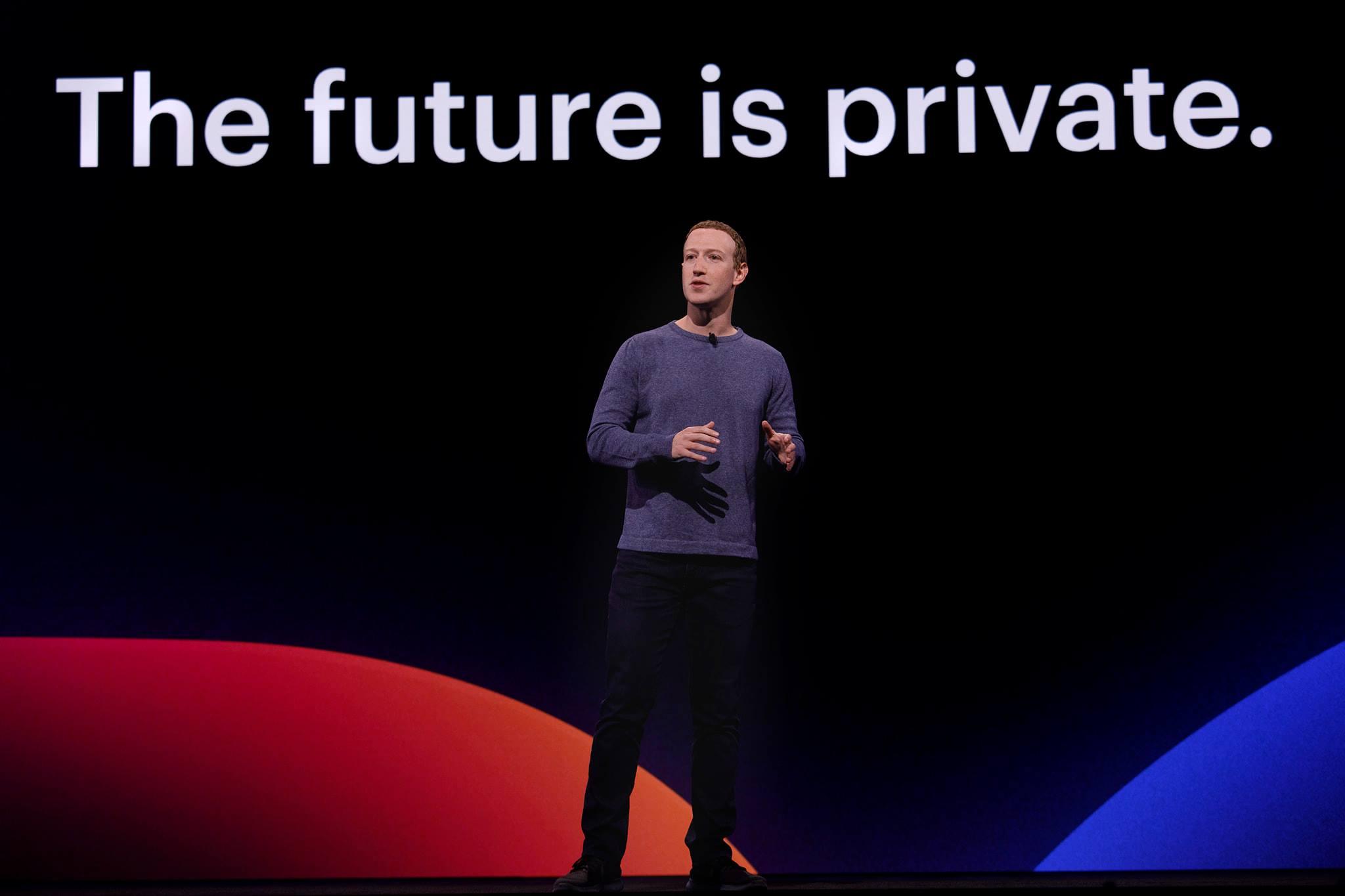 Mark Zuckerberg lors d'une conférence en avril 2019
