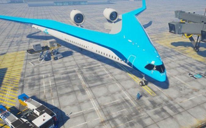 Une image du prototype Flying-V