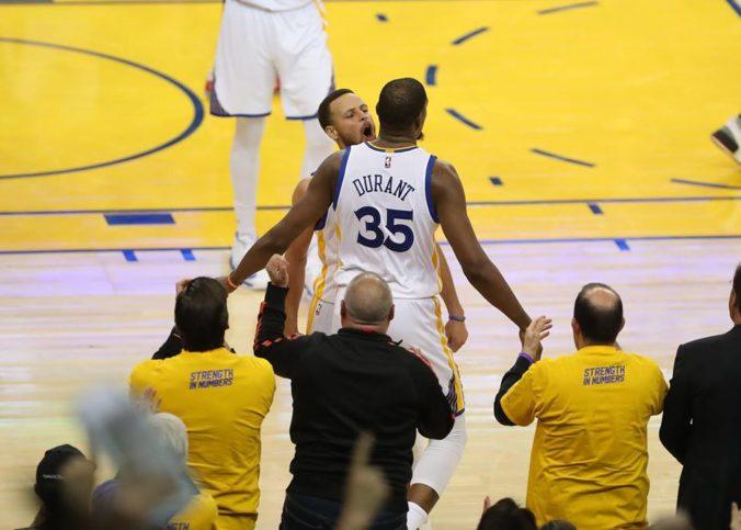 Kevin Durant lors d'un match avec Golden State avec