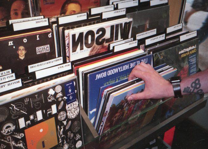 Des DVD rangés dans magasin aux Etats Unis