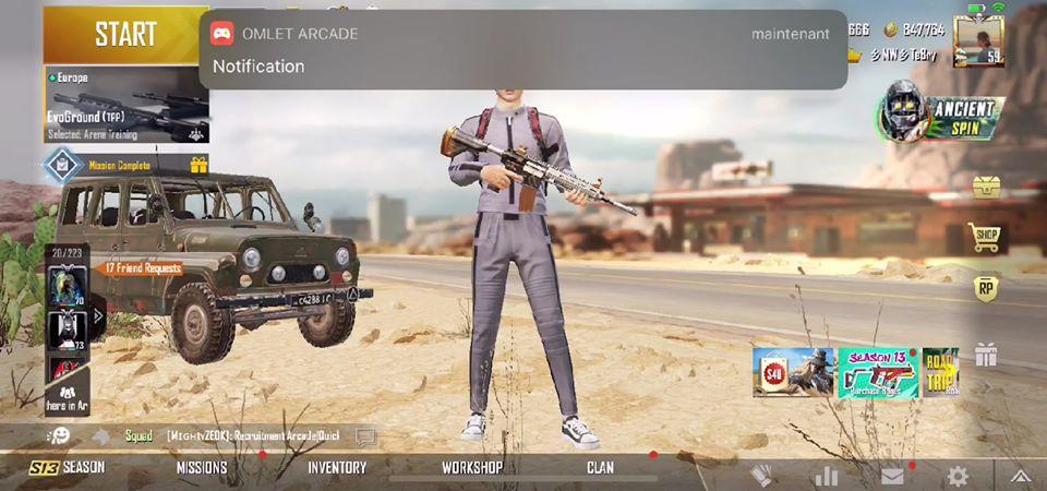 Capture d'écran d'une partie de jeu vidéo sur Facebook Gaming.