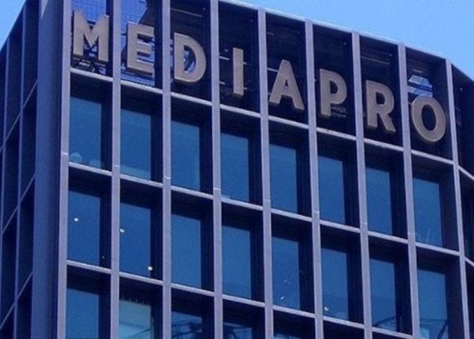La façade du siège de Mediapro, propriétaire de la chaîne de football Téléfoot.