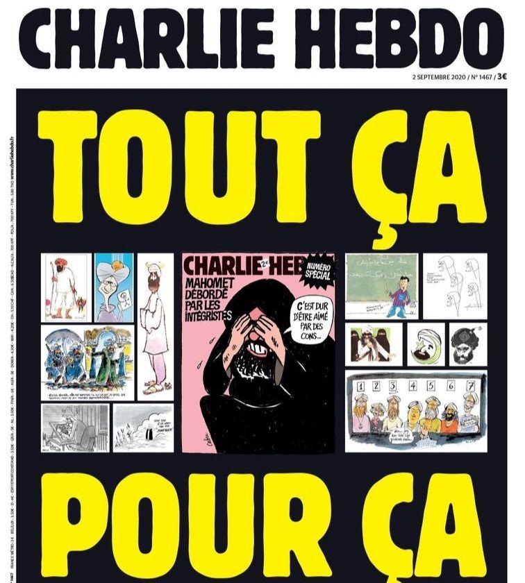 La une de Charlie Hebdo en hommage aux victimes de l'attentat du 7 janvier 2015.