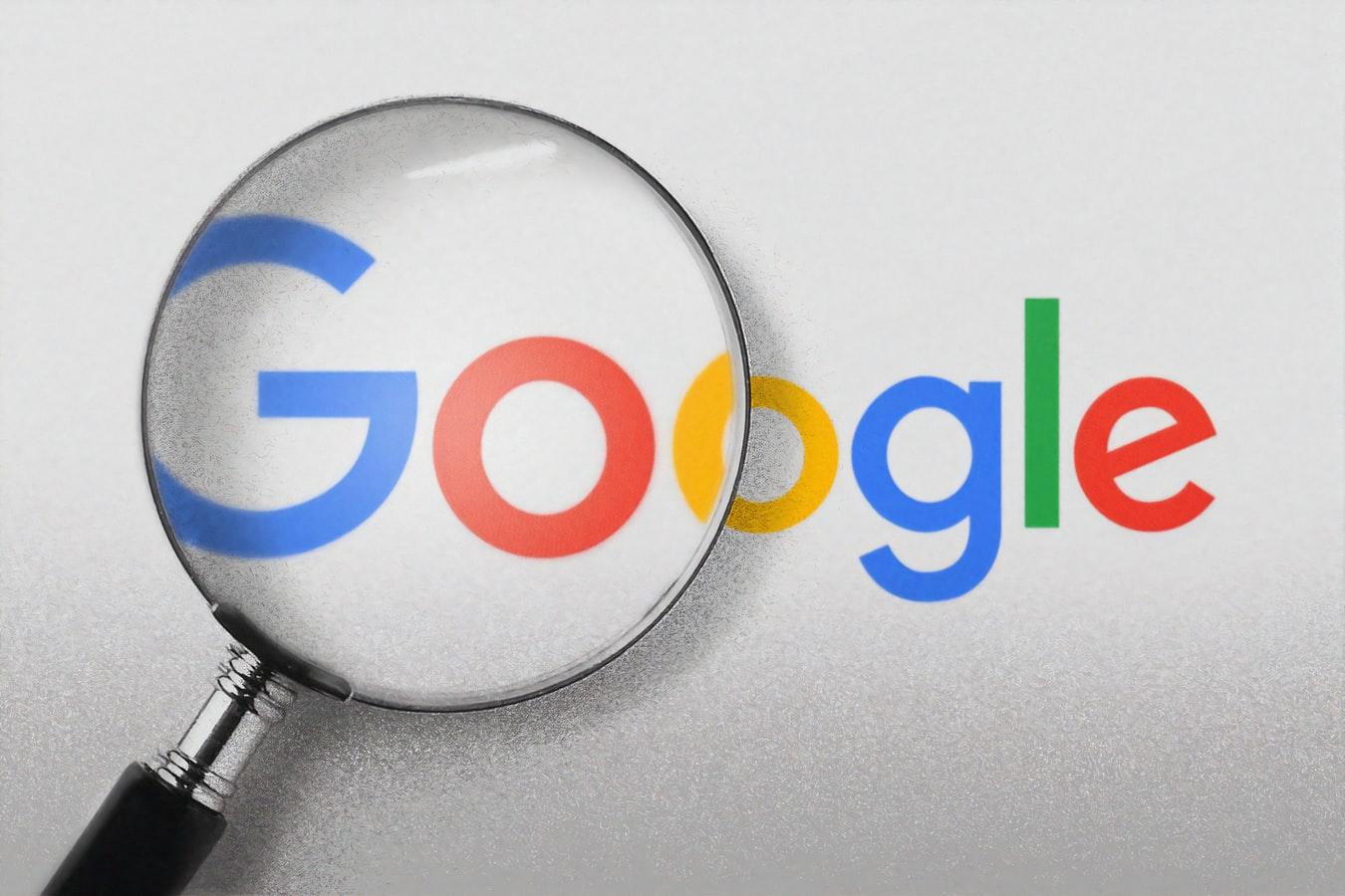 Les lettres Google passées à la loupe.