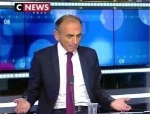 Eric Zemmour sur CNews (Capture d'écran).